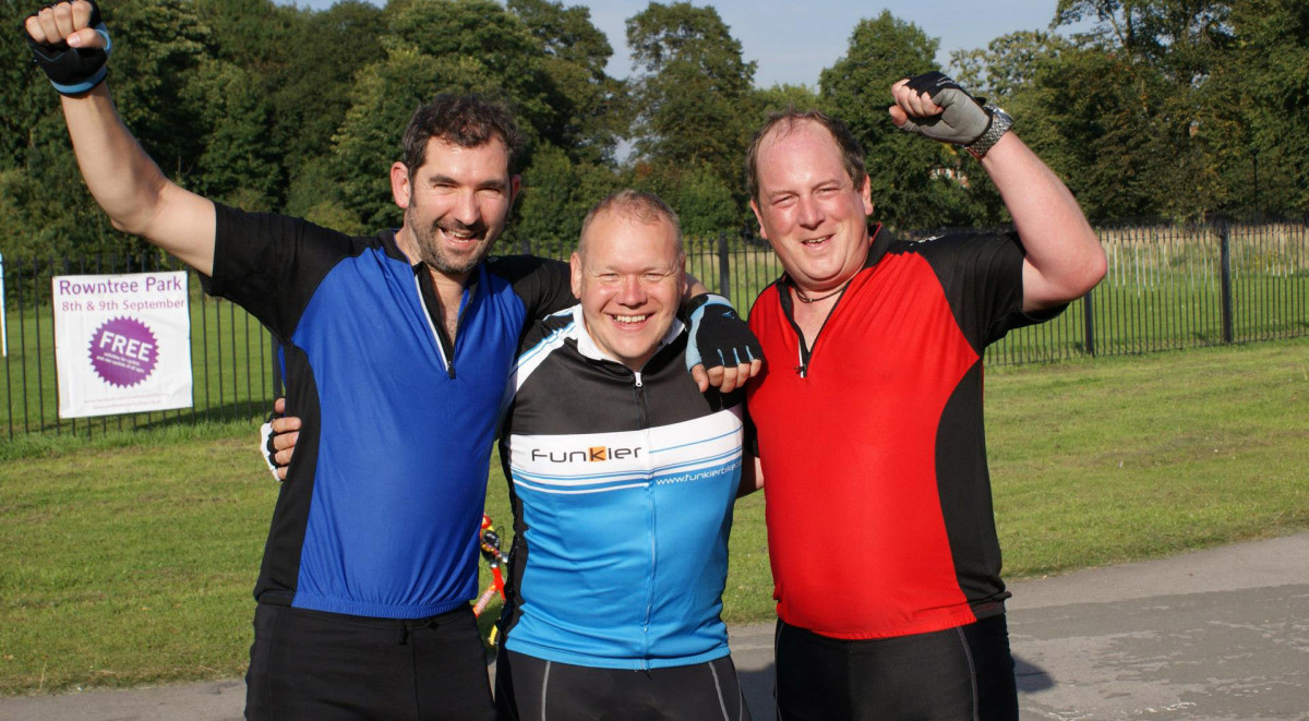 Successful cyclists of the IDAS sponsored cycle