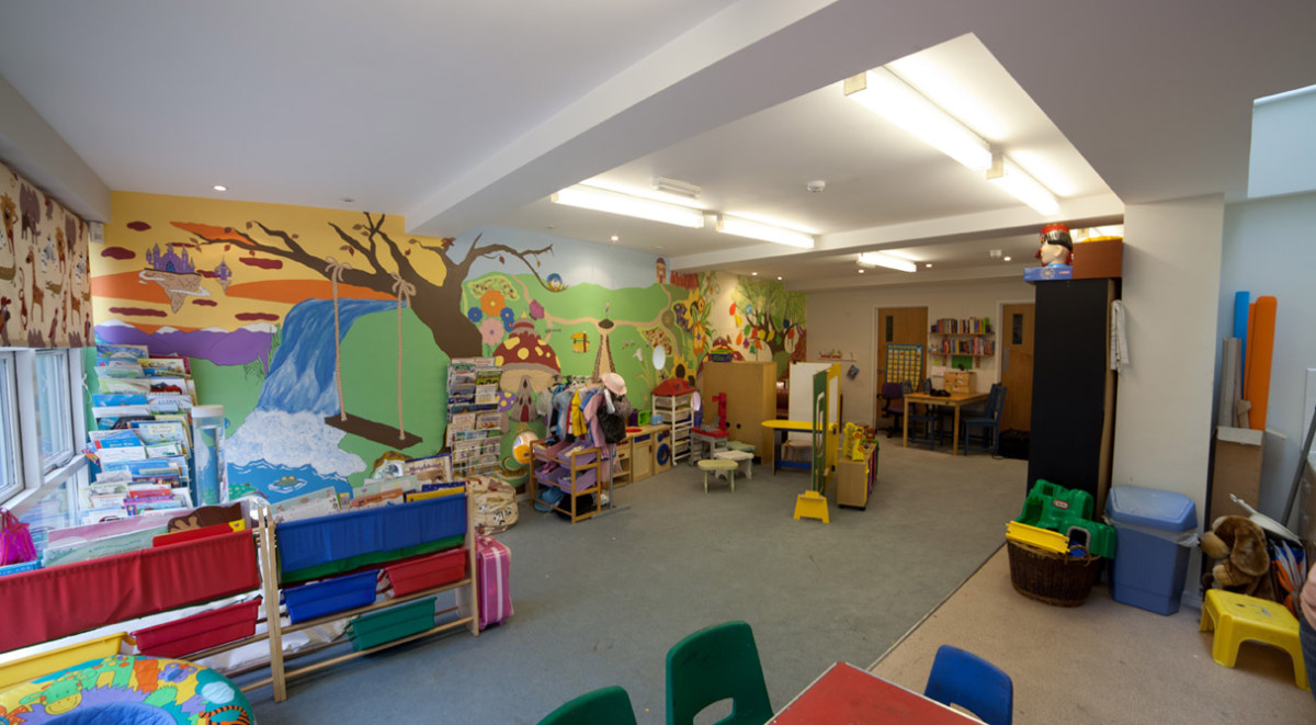 The children's playroom in our York refuge