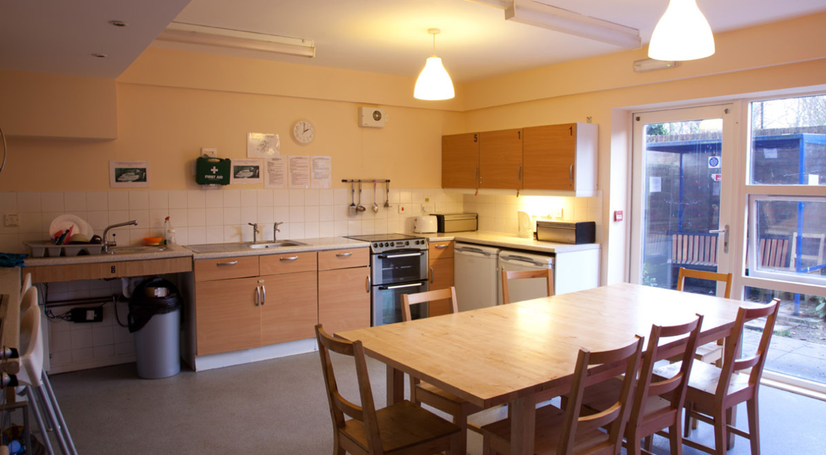 A shared kitchen in our York refuge