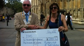 IDAS receive a cheque from York Vikings Rotary Club