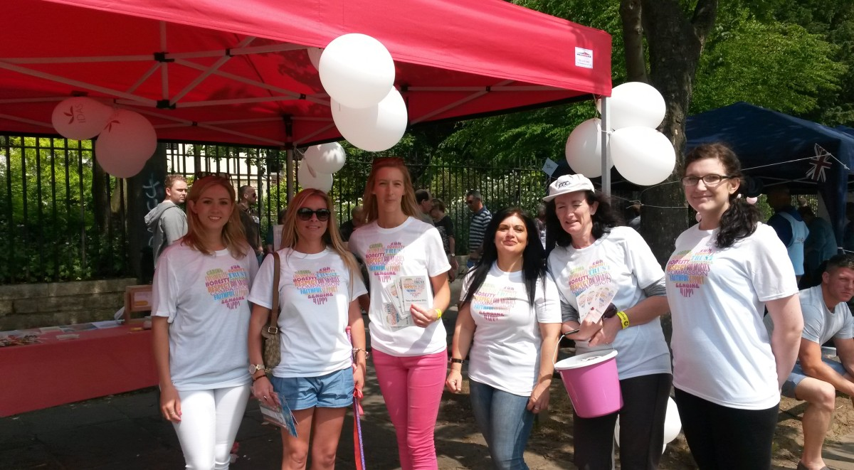 Volunteers at the dragon boat race in York