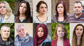 Anyone can be affected by domestic abuse - faces