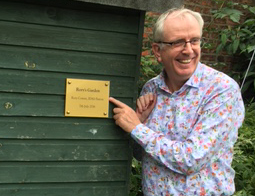 Rory Cowan opening Rory's Garden at our York Refuge