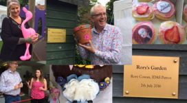 Rory Cowan and Joolz Denby visit our York refuge and open Rory's Garden
