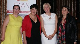 Speakers Joanne Harris MBE, Jen Potter, Kerry and Joanne at the IDAS fundraising dinner