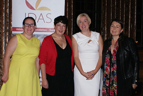 Speakers Joanne Harris MBE, Jen Potter, Kerry and Joanne at the IDAS fundraising dinner