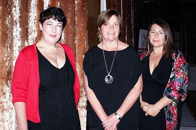Joanne Harris MBE, Sarah Hill CEO of IDAS and Jennifer Potter