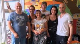 IDAS Volunteers decorating the children's playroom in one of our refuges