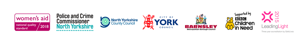 Police and Crime Commissioner, North Yorkshire County Council, City of York Council, Barnsley Metropolitan Borough Council, BBC Children in Need, Leading Light Accreditation by Safe Lives