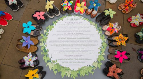 In Her Shoes Installation