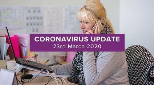 Coronavirus update 23rd of march 2020. Member of IDAS staff answering the helpline