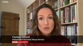 Carmel Offord from IDAS being interviewed on Look North
