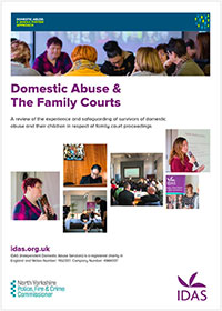 A review of domestic abuse and the family courts. Report cover showing a montage of women